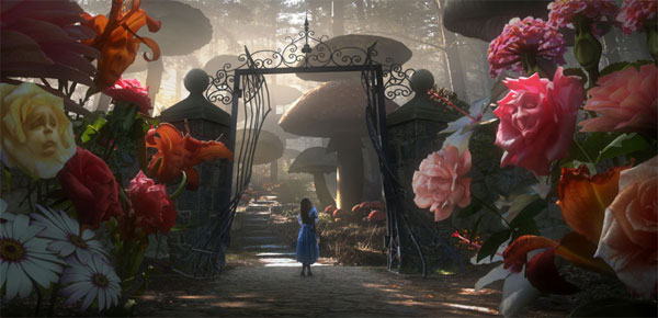 Alice in Wonderland concept art - tim burton (1)