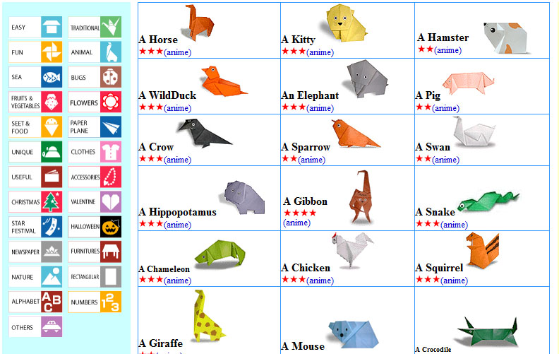 Melhor site de origami ponto eletr nico - Origami para todos ...